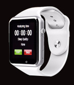 "zomoea white bluetooth 1.54"" screen gt08 android phone support smart watch"