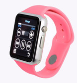"zomoea pink bluetooth 1.54"" screen gt08 android phone support smart watch"