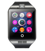 zomoea q18 plus black support bluetooth sport pedometer android phone smartwatch