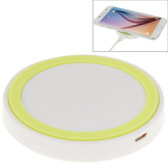 NEW QI STANDARD WIRLESS CHARGING PAD WHITE + GREEN FOR iPHONE 8/8 PLUS SAMSUNG AND OTHERS SMARTPHONES