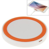 NEW QI STANDARD WIRLESS CHARGING PAD WHITE + ORANGE FOR iPHONE 8/8 PLUS SAMSUNG AND OTHERS SMARTPHONES