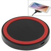 NEW QI STANDARD WIRLESS CHARGING PAD BLACK + RED FOR iPHONE 8/8 PLUS SAMSUNG AND OTHERS SMARTPHONES