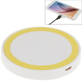 NEW QI STANDARD WIRLESS CHARGING PAD WHITE + YELLOW FOR iPHONE 8/8 PLUS SAMSUNG AND OTHERS SMARTPHONES