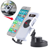 NEW ITIAN UNIVERSAL 360 DEGREE ROTATION SUCTION CUP CAR WIRELESS CHARGER WHITE WITH CAR HOLDER FOR SMARTPHONES