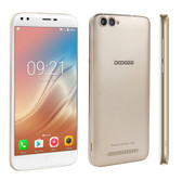 "doogee x30 gold quad core 2gb 16gb 5.5"" hd screen android 7.0 smartphone"