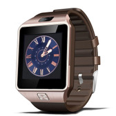 "NEW DZ09 1.56"" SCREEN GOLD BLUETOOTH 3.0 ANDROID 4.1 OS ABOVE SLEEPING MONITOR CALL REMINDER CAMERA FUNCTION SUPPORT SMARTWATCH"