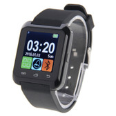 "NEW U80 BLUETOOTH HEALTH BLACK 1.5"" LCD SCREEN FOR ANDROID MOBILE PHONE SMARTWATCH"