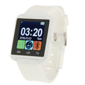 "NEW U80 BLUETOOTH HEALTH WHITE 1.5"" LCD SCREEN FOR ANDROID MOBILE PHONE SMARTWATCH"