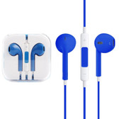NEW HIGH QUALITY EARPODS WITH WIRED CONTROL MIC BLUE FOR iPHONE SAMSUNG HTC OTHER SMARTPHONES