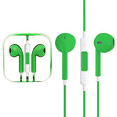 NEW HIGH QUALITY EARPODS WITH WIRED CONTROL MIC GREEN FOR iPHONE SAMSUNG HTC OTHER SMARTPHONES