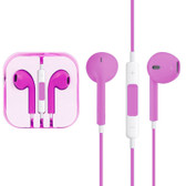 NEW HIGH QUALITY EARPODS WITH WIRED CONTROL MIC MAGENTA FOR iPHONE SAMSUNG HTC OTHER SMARTPHONES