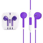 NEW HIGH QUALITY EARPODS WITH WIRED CONTROL MIC PURPLE FOR iPHONE SAMSUNG HTC OTHER SMARTPHONES