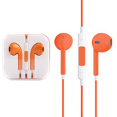 high quality earpods with wired control mic orange for iphone samsung smartphones