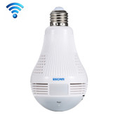 NEW ESCAM QP136 LIGHT BULB 360 DEGREES ALARM APP FUNCTION 1.3MP WIFI CAMERA SUPPORT MOTION DETECTION ALARM MESSAGES SCREENSHOT APP FUNCTION
