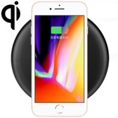 qi standard wireless charger 9v 1a output black for iphone x 8 galaxy smartphones