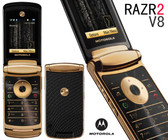 NEW LUXURY MOTOROLA RAZR V8 GOLD 2GB SMARTPHONE + FREE GIFTS