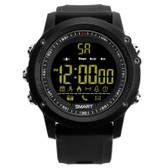 ex17 waterproof bluetooth black 50m pedometer data analysis camera smart watch