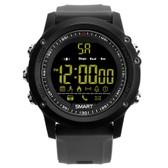 ex17 waterproof bluetooth 4.0 grey 50m pedometer data analysis camera smart watch