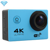 "NEW F60 4K 170 DEGREES 2.0"" SCREEN BLUE WIFI SPORT CAMCORDER SUPPORT 64GB MICRO SD CARD WATERPROOF CAMERA"
