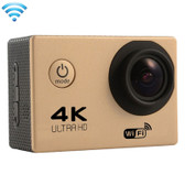 "NEW F60 4K 170 DEGREES 2.0"" SCREEN GOLD WIFI SPORT CAMCORDER SUPPORT 64GB MICRO SD CARD WATERPROOF CAMERA"