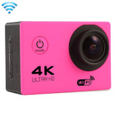 "NEW F60 4K 170 DEGREES 2.0"" SCREEN MAGENTA WIFI SPORT CAMCORDER SUPPORT 64GB MICRO SD CARD WATERPROOF CAMERA"