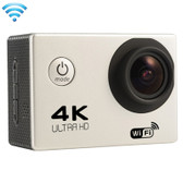 "NEW F60 4K 170 DEGREES 2.0"" SCREEN SILVER WIFI SPORT CAMCORDER SUPPORT 64GB MICRO SD CARD WATERPROOF CAMERA"