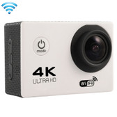 "NEW F60 4K 170 DEGREES 2.0"" SCREEN WHITE WIFI SPORT CAMCORDER SUPPORT 64GB MICRO SD CARD WATERPROOF CAMERA"
