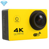 "NEW F60 4K 170 DEGREES 2.0"" SCREEN YELLOW WIFI SPORT CAMCORDER SUPPORT 64GB MICRO SD CARD WATERPROOF CAMERA"