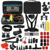 NEW PULUZ 53 1 ACCESSORIES TOTAL ULTIMATE COMBO KITS WITH EVS CASE FOR CAMERAS