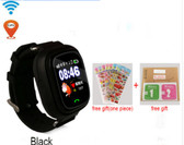 "NEW HOLD MI Q90 GPS PHONE POSITIONING BLACK TOUCH SCREEN 1.22"" WIFI RUSSIAN VERSION SOS CHILDREN SMARTWATCH BABY Q80 Q50 Q60"