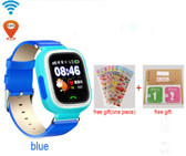 """NEW HOLD MI Q90 GPS PHONE POSITIONING BLUE TOUCH SCREEN 1.22"""" WIFI RUSSIAN VERSION SOS CHILDREN SMARTWATCH BABY Q80 Q50 Q60"""