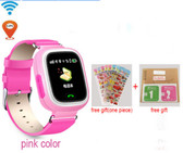"NEW HOLD MI Q90 GPS PHONE POSITIONING PINK TOUCH SCREEN 1.22"" WIFI ENGLISH VERSION SOS CHILDREN SMARTWATCH BABY Q80 Q50 Q60"