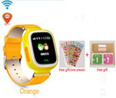 "NEW HOLD MI Q90 GPS PHONE POSITIONING ORANGE TOUCH SCREEN 1.22"" WIFI RUSSIAN VERSION SOS CHILDREN SMARTWATCH BABY Q80 Q50 Q60"