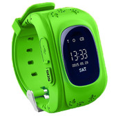 q50 gps green sos call location finder tracker monitor kids children smartwatch