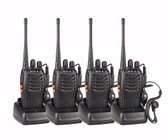 LOT 4pcs PORTABLE WALKIE TALKIE RETEVIS H777 16CH UHF HAM Radio Hf Transceiver 2 Way cb Radio Communicator Walk Talk