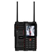 ioutdoor t2 5km walkie talkie ip68 black red waterproof dustproof shockproof