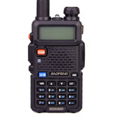 NEW BAOFENG UV-5R CB BLACK RADIO TRANSCIVER 128CH 5W HANDHELD HUNTING WALKIE TALKIE