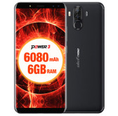 "NEW ULEFONE POWER 3 BLACK 6GB 64GB OCTA CORE DUAL CAMERA 21MP 6.0"" HD SCREEN ANDROID 7.1 4G LTE SMARTPHONE"