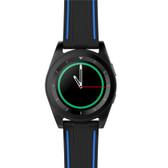 no.1 g6 leather black heartrate monitor pedometer psg bracelet sport bluetooth smartwatch