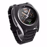 no.1 g6 black metal heartrate monitor pedometer psg bracelet sport bluetooth smartwatch