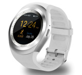 y1 bluetooth relogio white phone call sim tf camera waterproof android smart watch
