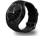 y1 bluetooth relogio black phone call sim tf camera waterproof android smart watch
