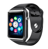 a1 bluetooth black smart clock camera phone android ios huawei wrist smartwatch