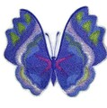 Watercolor Violet Butterfly