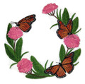 Monarchs And Milkweed Wreath