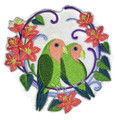 Peach-Faced Lovebirds Wreath