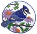 Bluejay And Purple Cornflowers Circle