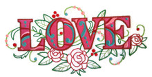 Love with Vintage Flower Fade