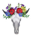 Skull in Wildflowers