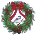 Chickadee Dee Christmas Wreath